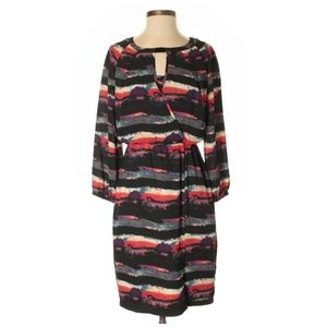 Marc New York Multi Striped Faux Wrapped Dress